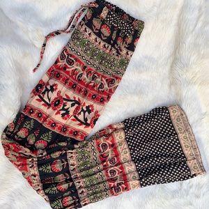 Band or gypsies boho flare pants